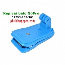 Kẹp vai balo GoPro Yi camera Sjcam xanh nước biển