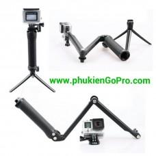 Gậy chụp hình 3 khúc cho GoPro Sjcam Xiaoyi camera