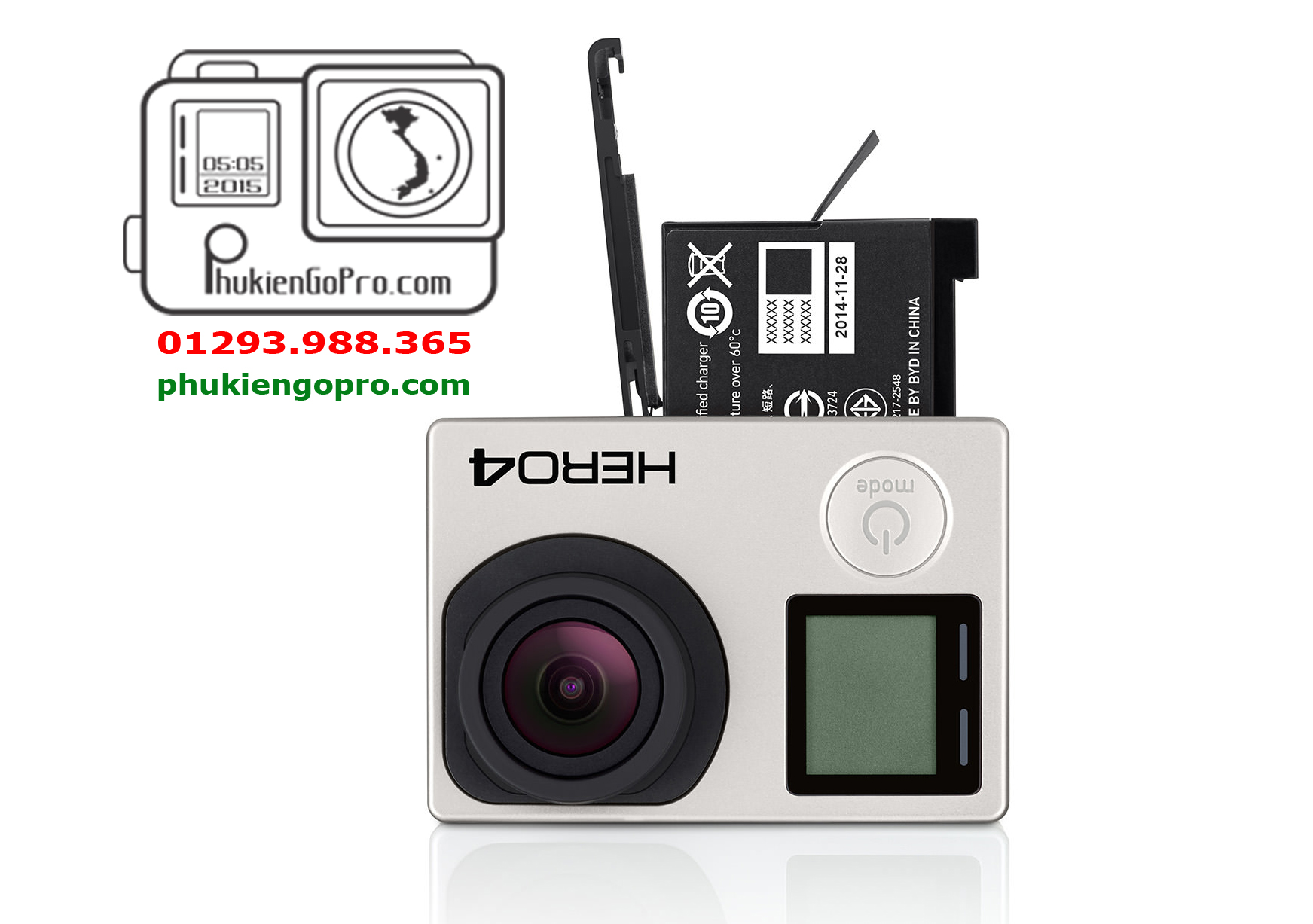 pin zin chinh hang gopro 4 black